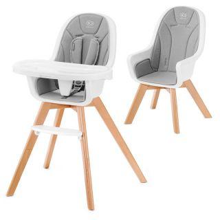 Детско столче за хранене 2в1 KinderKraft TIXI, Сиво