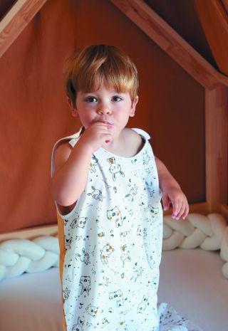 Тineo Детско олекотено спално чувалче - регулируемо, 6-36м