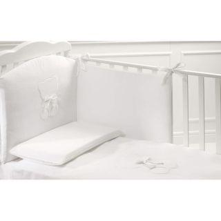 PROMO Baby Expert бебешко креватче Fiocco Lux +Скрин с вана и повивалник Fiocco Lux +Спален комплект 4 части Tato Бял/Сребрист