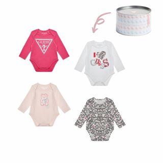 Guess Подаръчен комплект бебешки бодита 4бр.