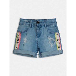 Guess детски дънкови панталони с цветни ленти