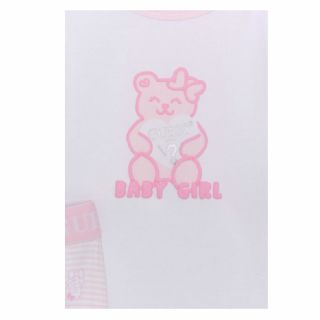 Guess комплект 2 бр. бебешки бодита с клин Baby Girl