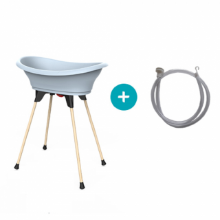 Бебешка вана със стойка за баня Thermobaby VASCO, Синя