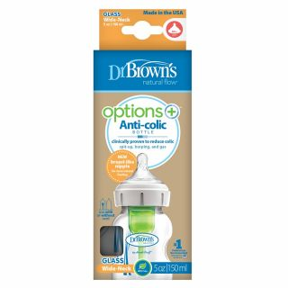 Комплект бебешки шишета Dr.Brown`s Wide-Neck Options+ 2 бр. 270мл  Лилаво