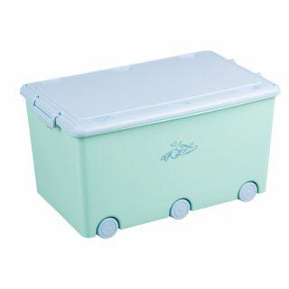 Кутия за съхранение на играчки Tega Baby Little Bunnies, зелен