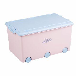 Кутия за съхранение на играчки Tega Baby Little Bunnies, розов