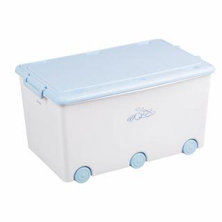 Кутия за съхранение на играчки Tega Baby Little Bunnies, бял