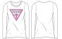 Guess детска бяла блуза с дълъг ръкав с лого и камъни