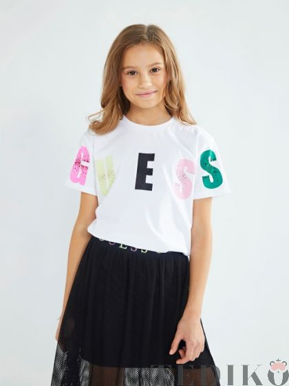 Guess детска тениска с надпис