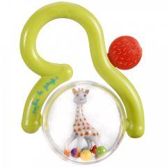 Софи Жирафчето Дрънкалка с дръжка и гума за гризане 0м+