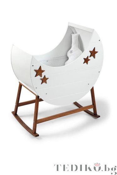 Бебешко легло-люлка - Бял | Tahterevalli