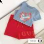 Guess детска синя тениска за момиче