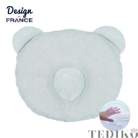 Candide Бебешка възглавница против сплескана глава, P'Tit Panda Сив