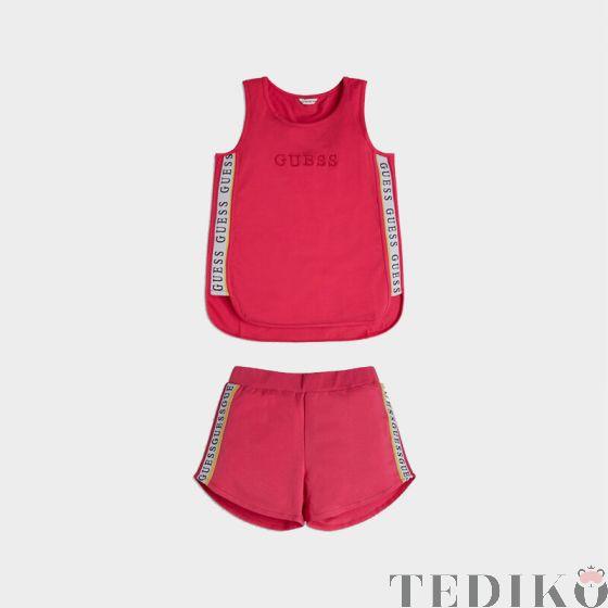 Guess Active спортен комплект потник и къс панталон с надписи