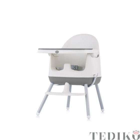 """Chipolino Детски стол за хранене 3в1 """"Пудинг"""", сив"""