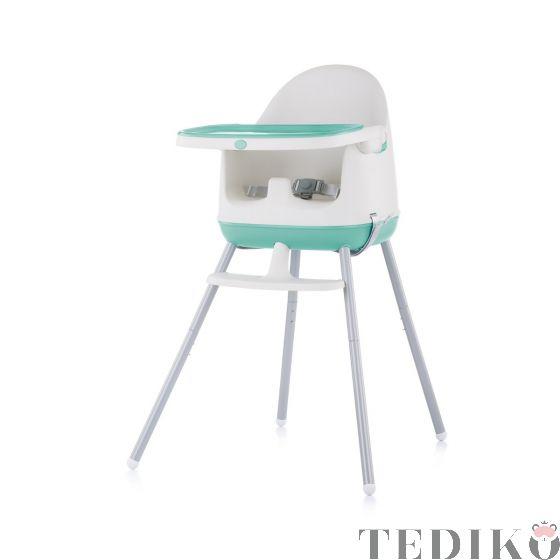 """Chipolino Детски стол за хранене 3в1 """"Пудинг"""", мента"""