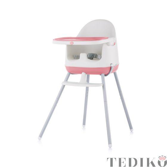 """Chipolino Детски стол за хранене 3в1 """"Пудинг"""", розов божур"""