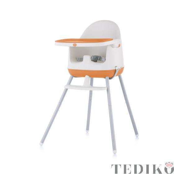 """Chipolino Детски стол за хранене 3в1 """"Пудинг"""", портокал"""