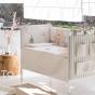 Interbaby Детско дървено креватче Monnet (60x120см)