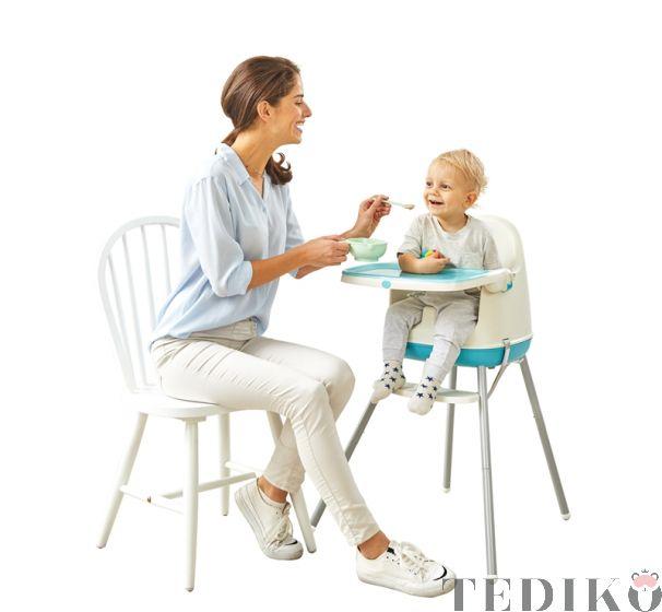 "Chipolino Детски стол за хранене 3в1 ""Пудинг"", син божур"