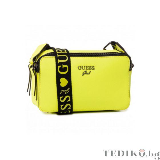 Guess Чанта за рамо Neon Yellow