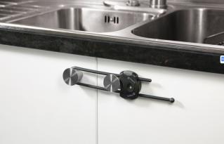 Safety 1st Устройство за заключване на шкаф с плъзгащ се механизъм (1бр./оп.) сив